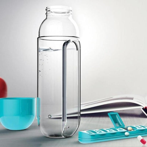 2 in 1 Pill Box Water Bottle