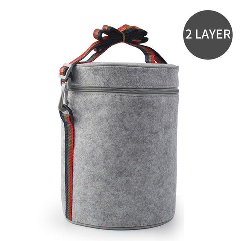 Image of Stainless Steel, Thermal, Leak-Proof, Compartment Lunch Box