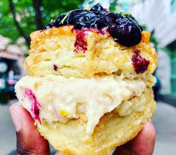 Blueberry Cheesecake Biscuit