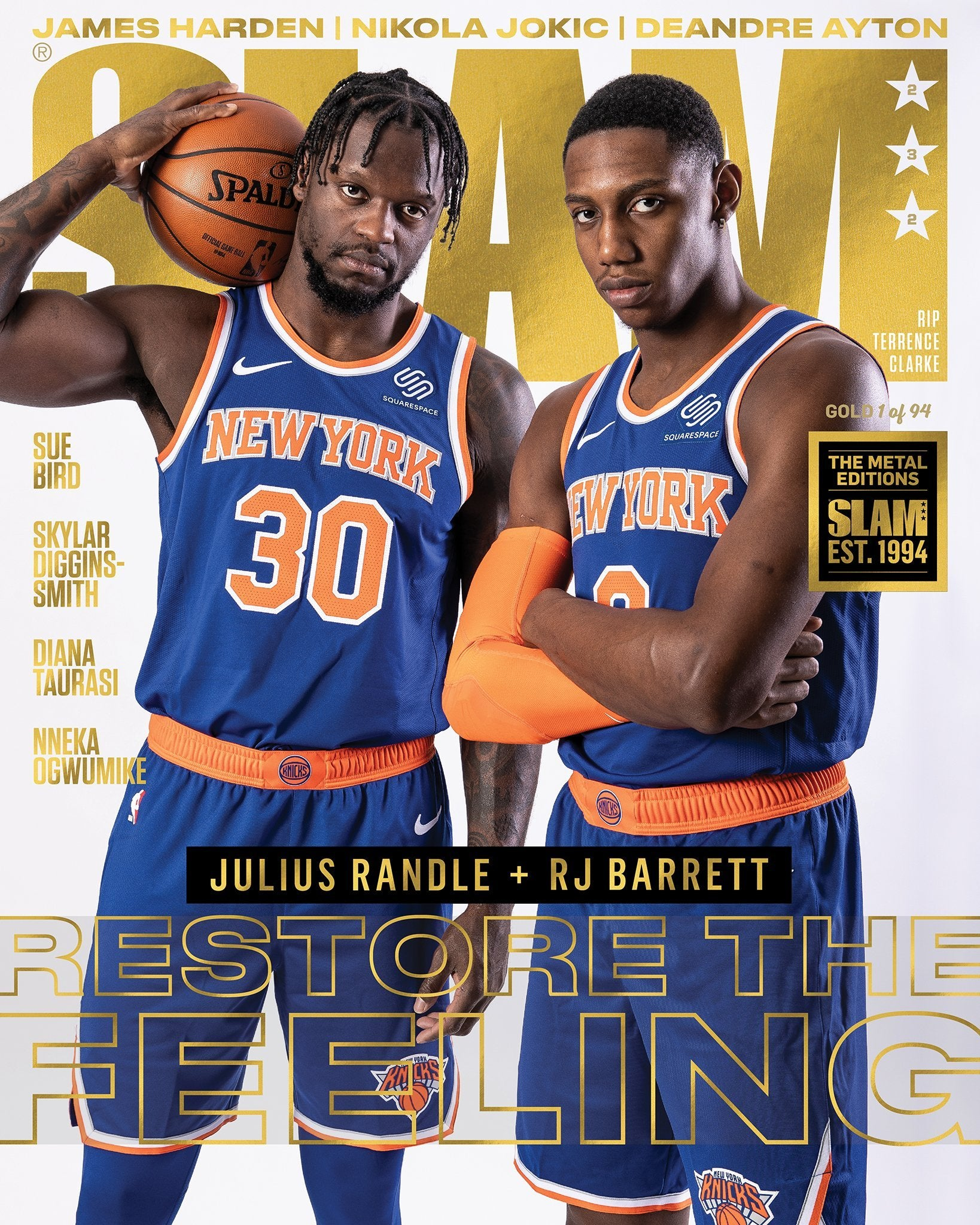 GOLD METAL: SLAM 232 - Julius Randle + RJ Barrett (Cover 1 of 3) - SLAM Goods