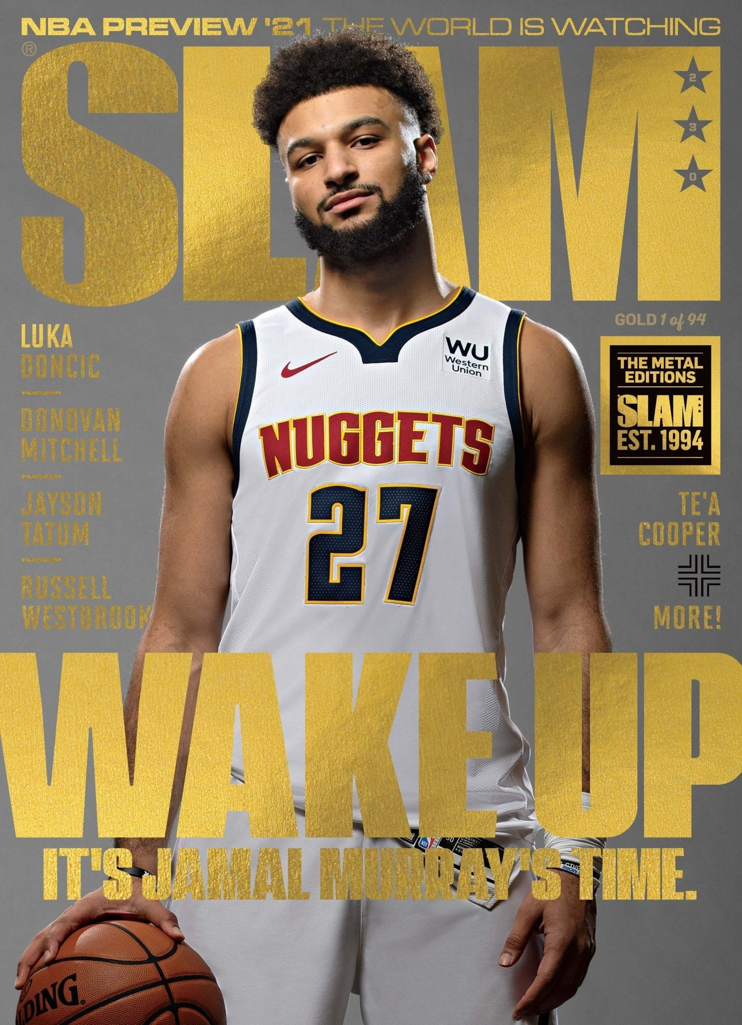 GOLD METAL - SLAM February/March 2021 (Jamal Murray-230) - SLAM