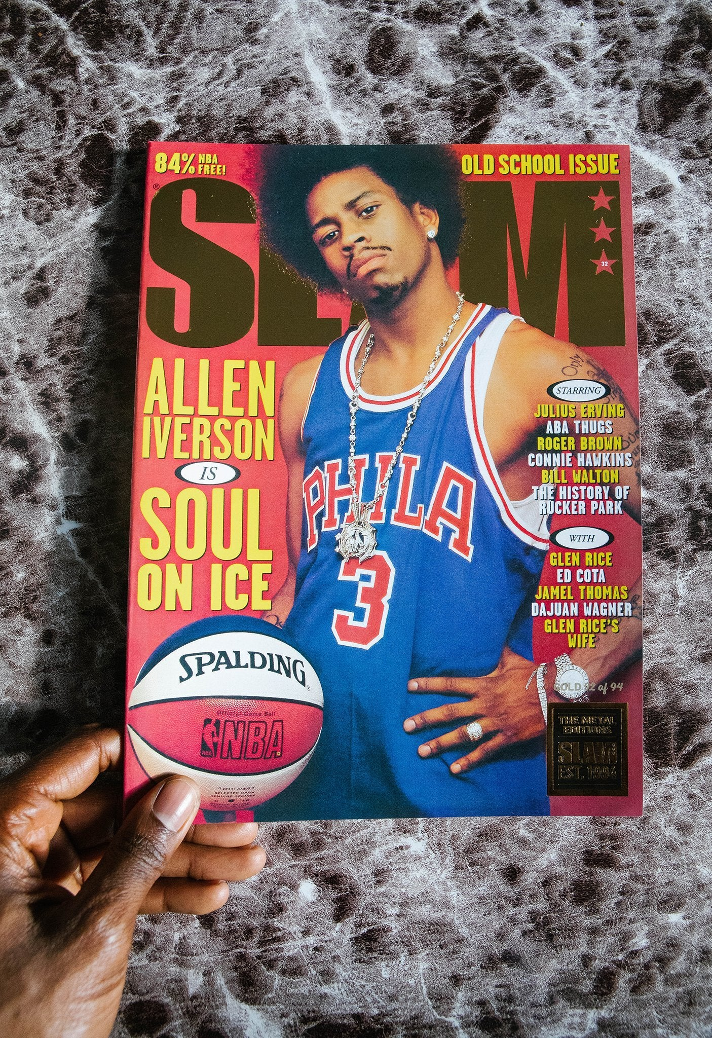GOLD METAL - SLAM Rewind Series: Issue 32 (Allen Iverson) - SLAM