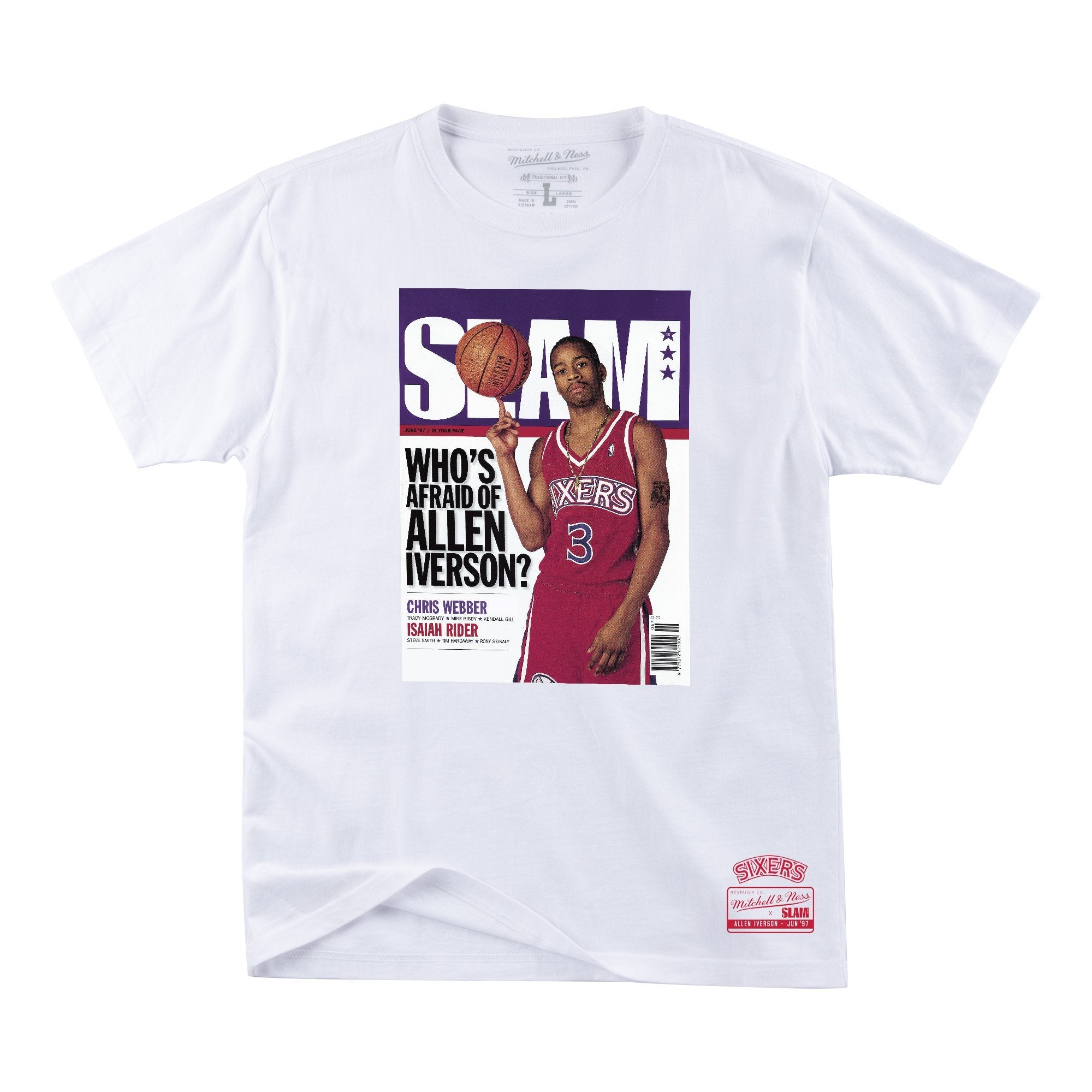 SLAM Cover Tee - Allen Iverson - Rookie Cover - SLAM