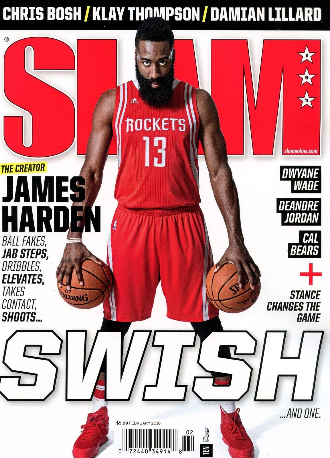 SLAM x Fathead: James Harden - SLAM