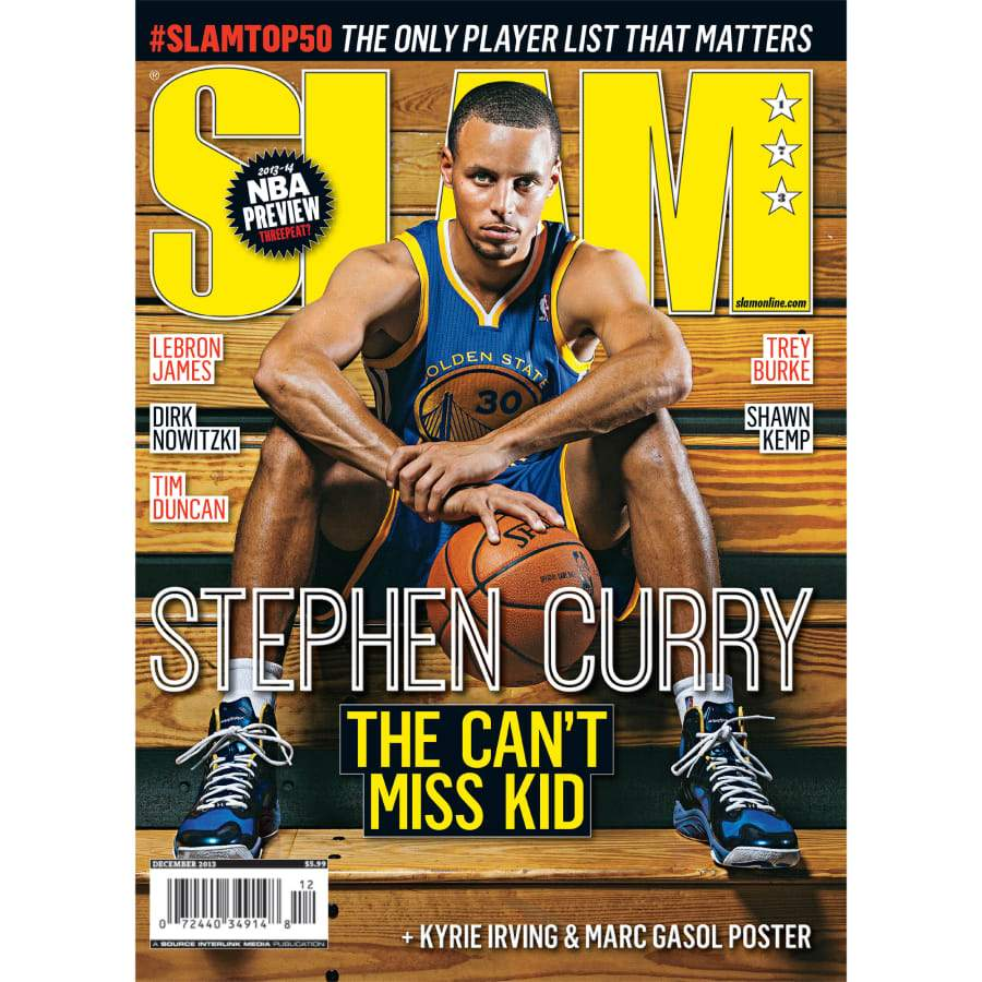 SLAM x Fathead: Stephen Curry - SLAM