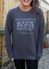 Wildflower Dark Grey Crew