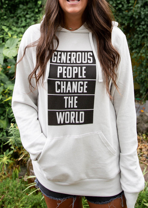 World Changer Natural Pullover Hoodie