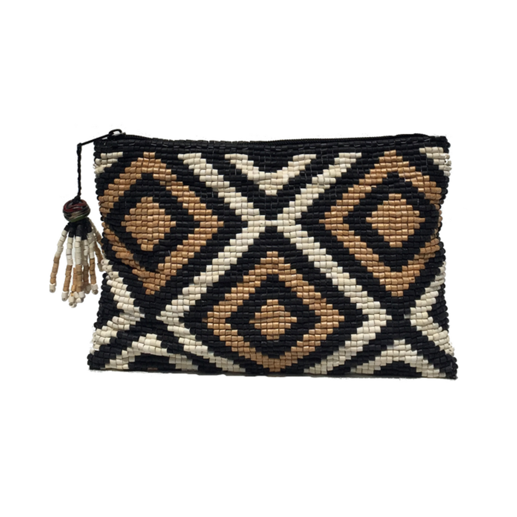 Delores Handmade Ceramic Beaded Clutch