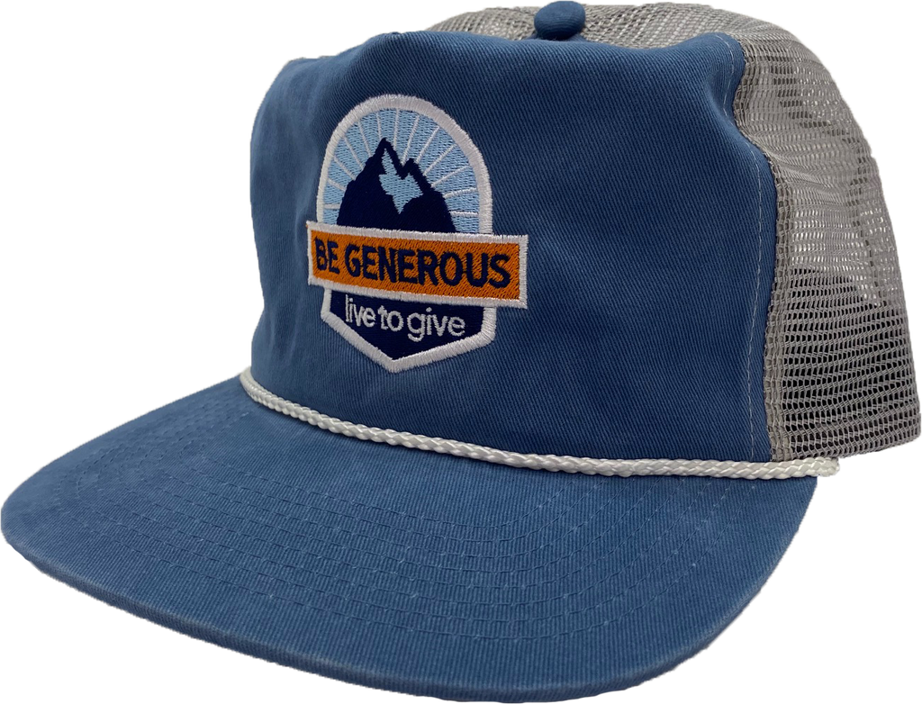 Be Generous - Captain Hat - Blue/Gray