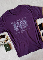 Wildflower Purple Tee