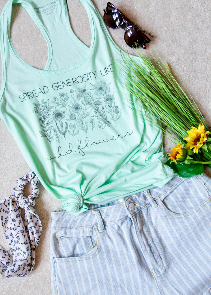 Wildflower Mint Tank Top