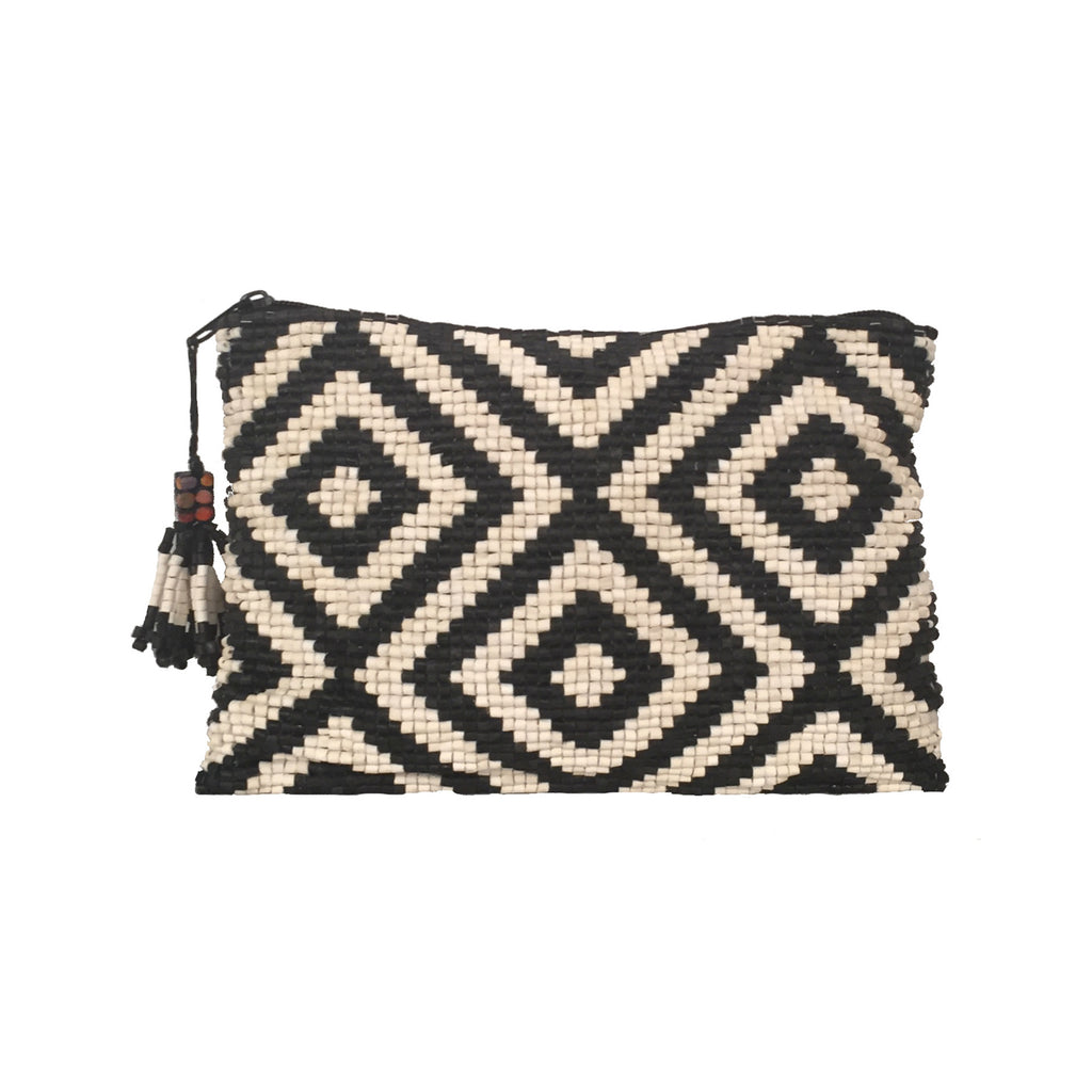 Teocinte Handmade Ceramic Beaded Clutch