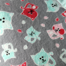 Large Flannel Blanket - Cat Print