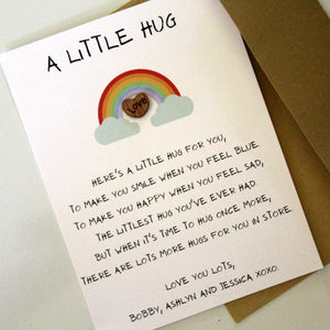 Pocket Hug Token with Personalized Poem Card