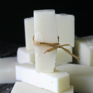 Unscented coconut oil soap bars.  These bars are perfect for making your own liquid/powder laundry soap, stain treatment, or household cleaner. //  Four Peaks Soapery
