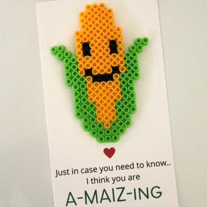 You're A-MAIZ-ing Perler Bead Card