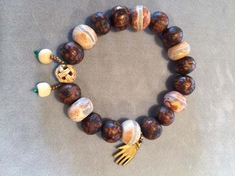 Boddhi Seed and Agate Mala