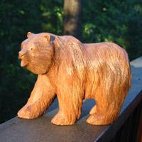 Bear Wood Carving