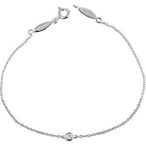 Bezel Set Diamond Bracelet - ByURBAE