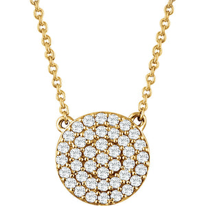 Pave Circle Necklace x Diamonds - ByURBAE