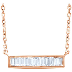 Vertical Baguette Bar Necklace - ByURBAE