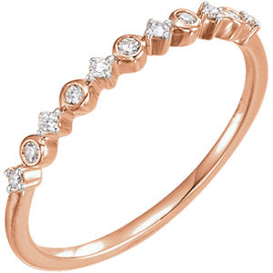 Bezel and Princess Stackable Ring x Diamonds - ByURBAE