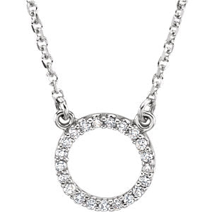 Small Circle Necklace x Diamonds - ByURBAE