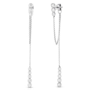 Bezel Diamond Chain Drops - ByURBAE