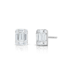 Illusion Emerald Studs