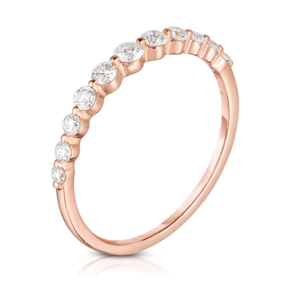 Graduated Shared Prong Eternity Band - ByURBAE