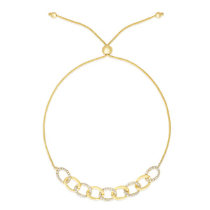 Chain Link Bolo Bracelet - Yellow Gold - Urbaetis Fine Jewelry