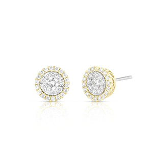 Diamond Stud Illusion Earring with Halo