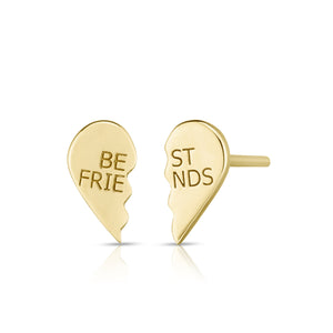 BFF Heart Earrings