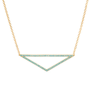 Turquoise Triangle Necklace - ByURBAE