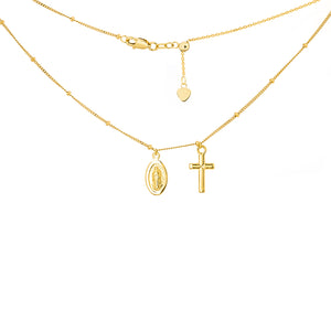 Cross and Virgin Mary Choker - ByURBAE