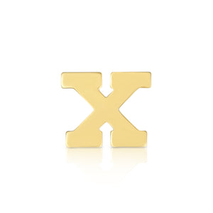 Block Letter Initial Stud x Single - ByURBAE