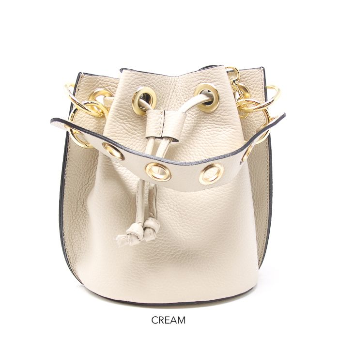 Bennet Bucket Bag- Cream