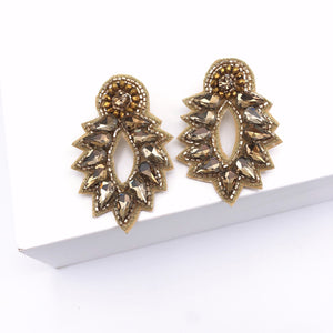 Spikey Stud Earrings- Gold
