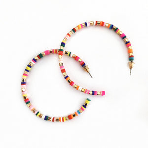 Thin Colorful Hoops