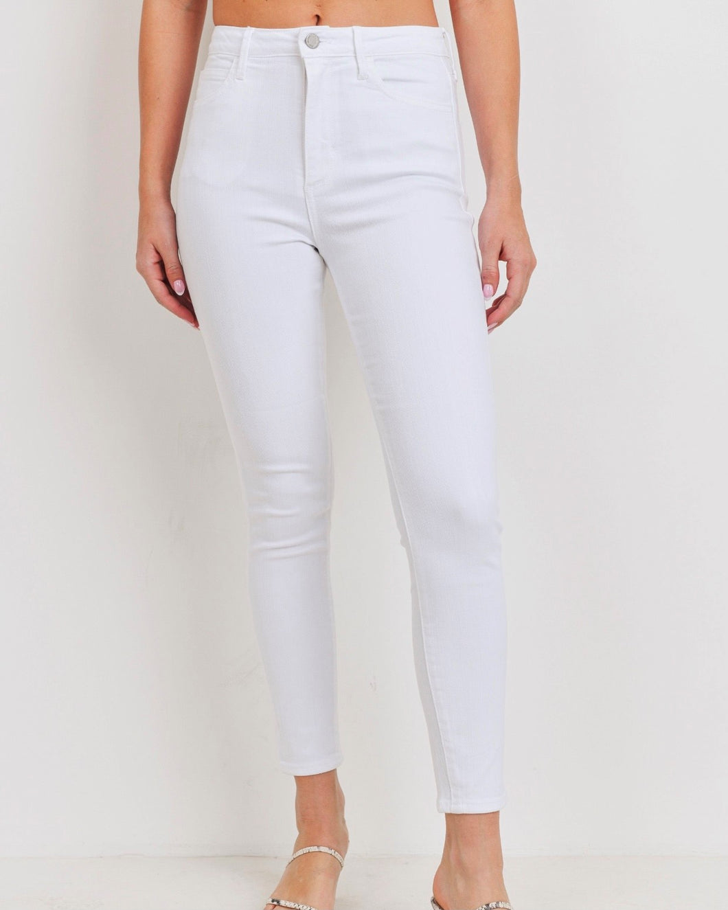High Rise Classic Skinny Jeans- White