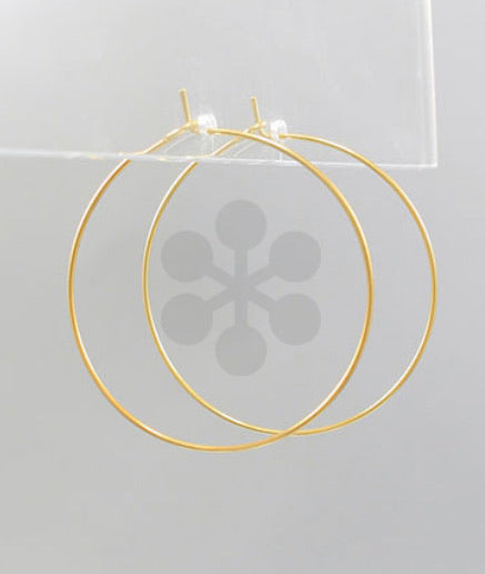 Gold Dipped Hoops- 1 1/2