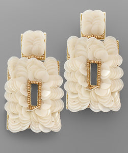 Pretty Petal Earrings-White