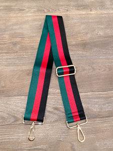 Blake Strap- Red, Green & Black Stripe