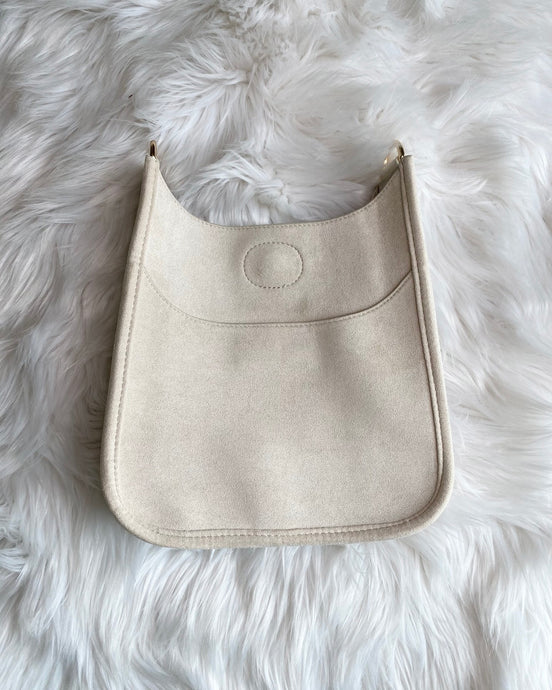 Blake Bag- Small Faux Suede Cream