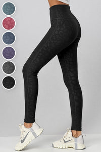 Leopard Leggings- Black