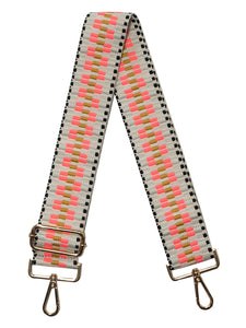 Blake Strap- Embroidered Pink