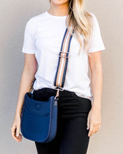 Blake Strap- Navy/Gold/White Stripe