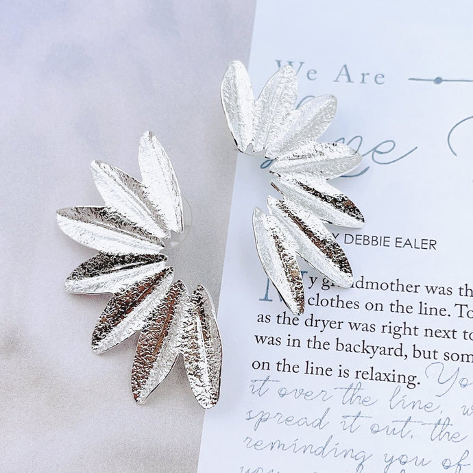 Alexis Wing Earrings- Silver