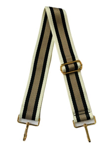 Blake Strap- 3 Stripe Cream/Black/Khaki