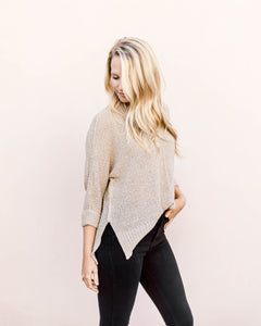 Grant Crew Neck Sweater- Oatmeal